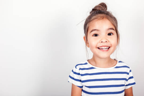 happy small girl - child stock photos and pictures