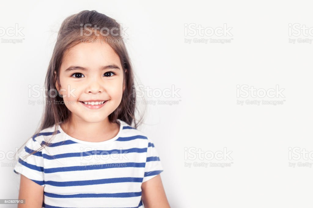 Happy Small Girl stock photo