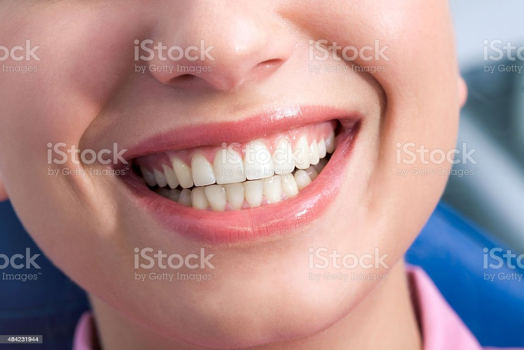 Happy smile stock photo