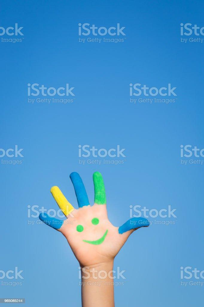 Happy smiley hand royalty-free stock photo