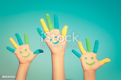 Happy Smiley Hands Stock Photo & More Pictures of Arm