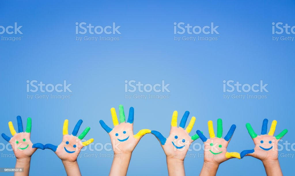 Happy smiley hands zbiór zdjęć royalty-free