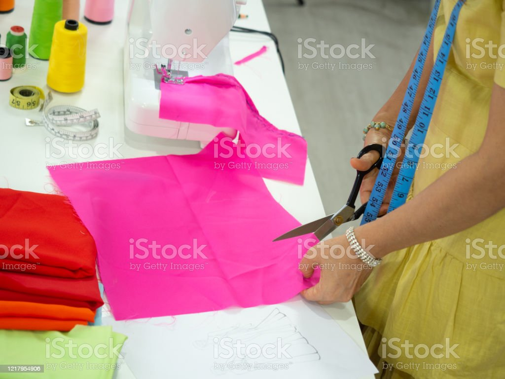 Happy Smiling Asian Creative Fashion Designer Is Working Owner Dressmaker Tailor Shop Stock Photo Download Image Now Istock