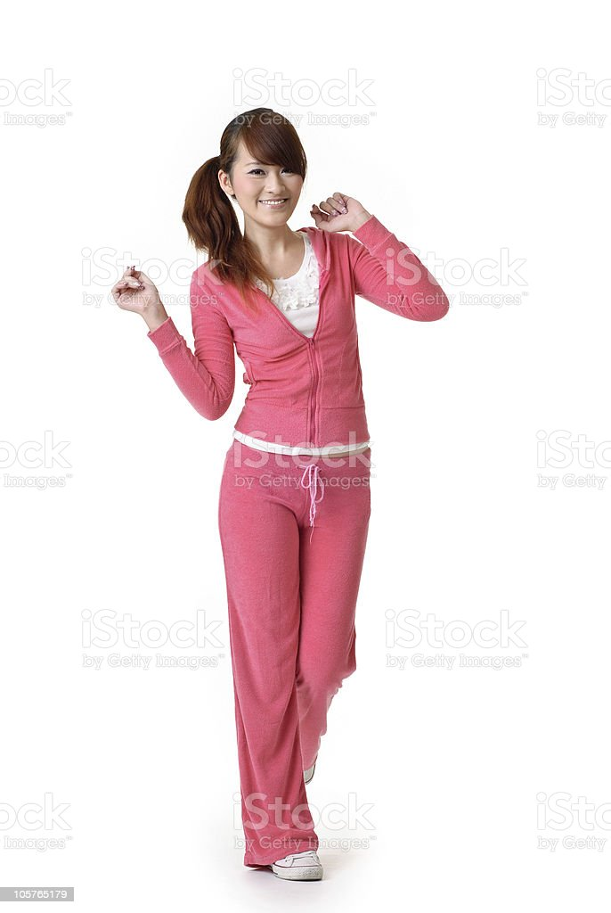 Happy smiling beauty of fitness royalty-free stock photo