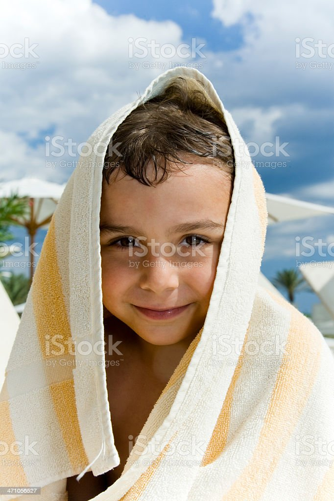 happy smiling boy at the swimming pool royalty-free stock photo