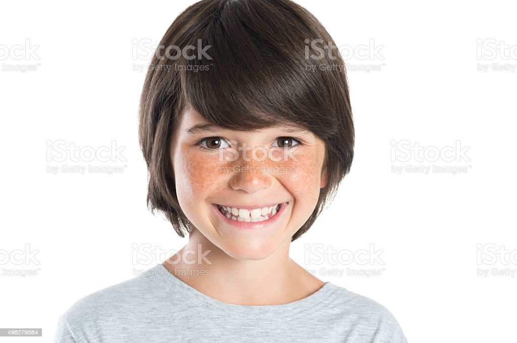 Feliz menino sorridente - foto de acervo