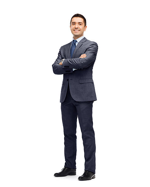 happy smiling businessman in suit - businessman stock pictures, royalty-free photos & images