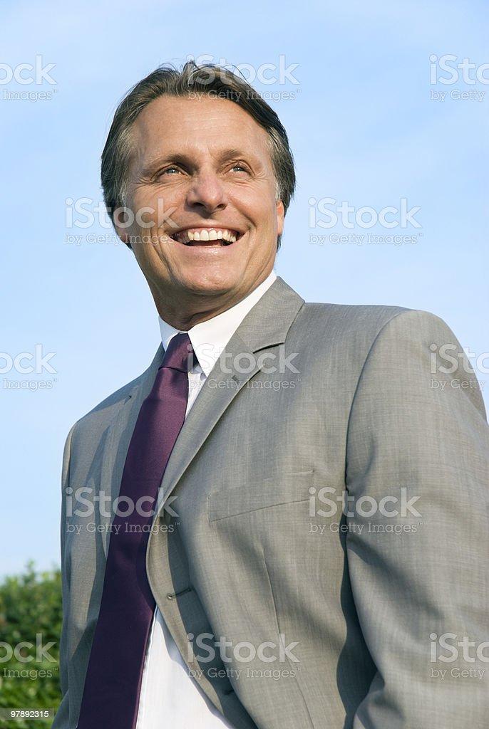 Happy smiling businessman. royalty-free stock photo