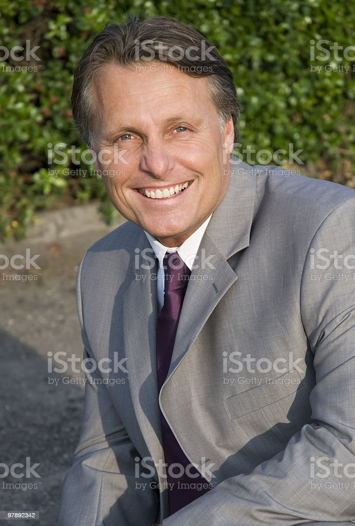 Happy smiling businessman royalty-free stock photo