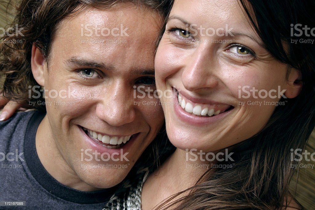 Happy smiling couple royalty-free stock photo