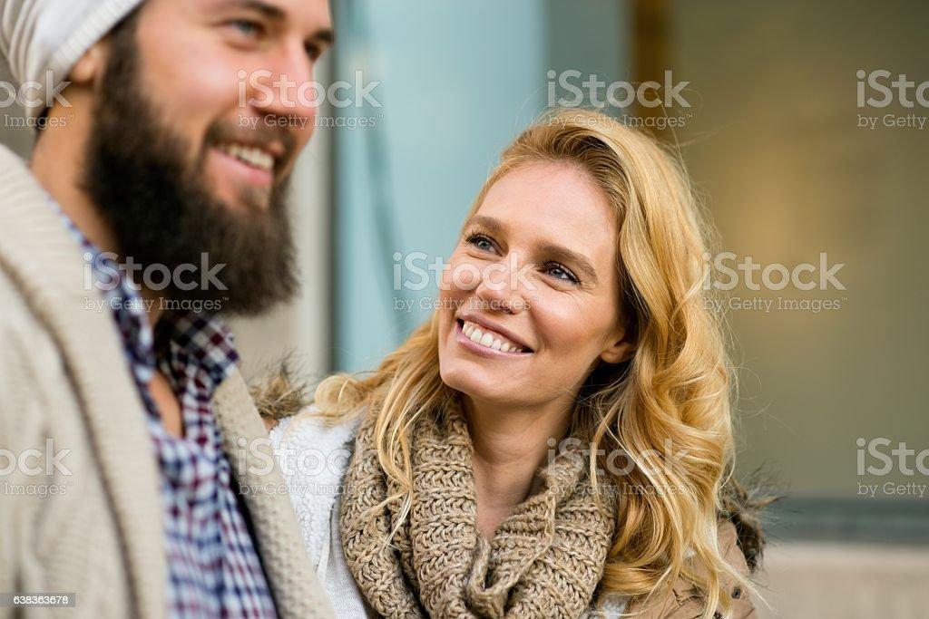 Happy smiling couple. stock photo