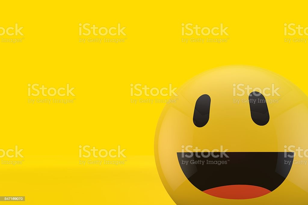 Happy Smiling Face Emoji Stock Photo - Download Image Now