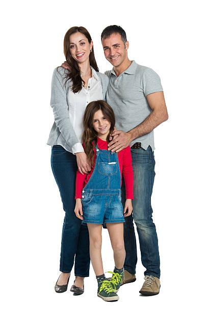 happy smiling family - mid volwassen koppel stockfoto's en -beelden