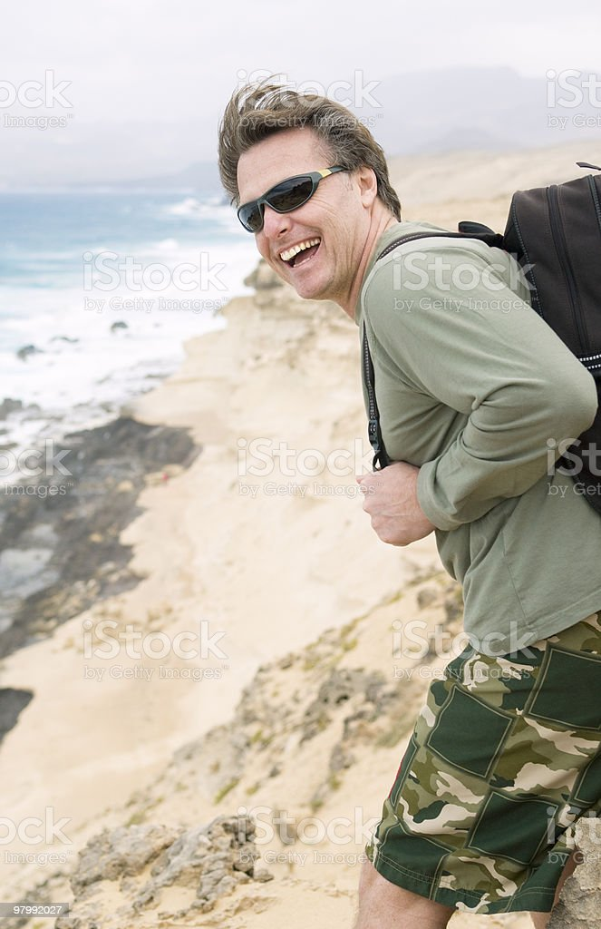 Happy smiling fit man. royalty-free stock photo