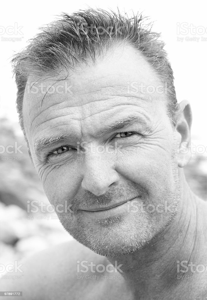 happy smiling forties man royalty-free stock photo