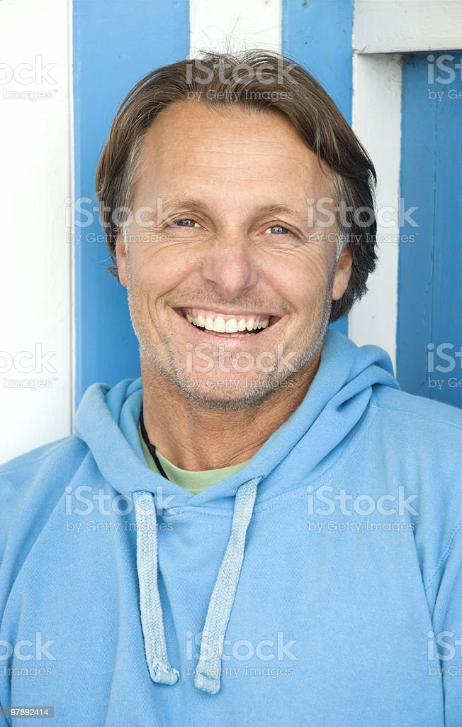 Happy smiling forties man. royalty-free stock photo