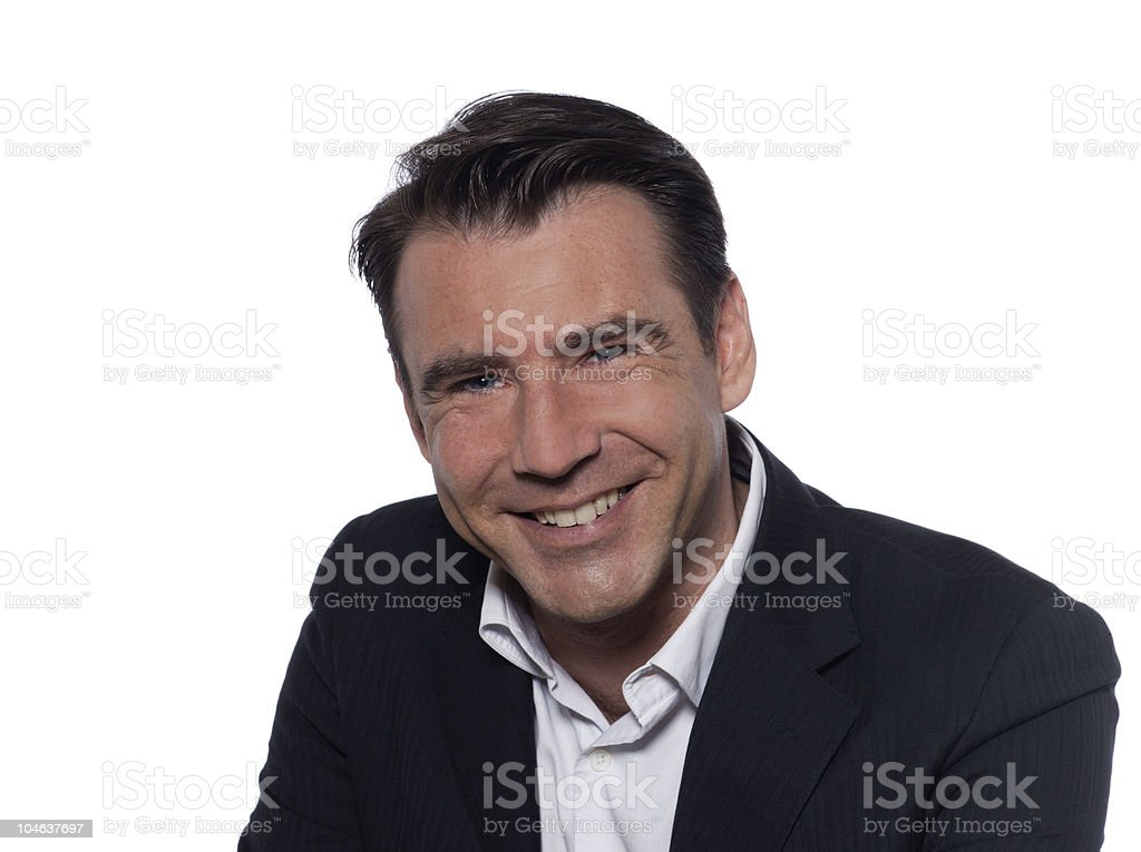 happy smiling handsome man portrait  35-39 Years Stock Photo