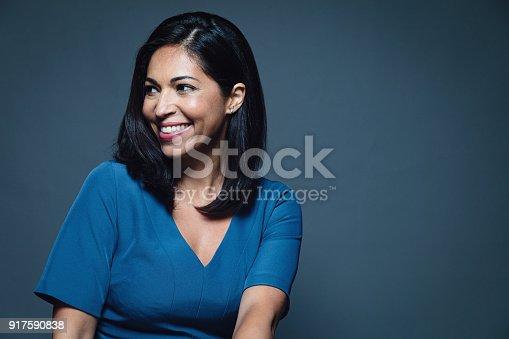 949435100 istock photo Happy smiling hispanic businesswoman 917590838
