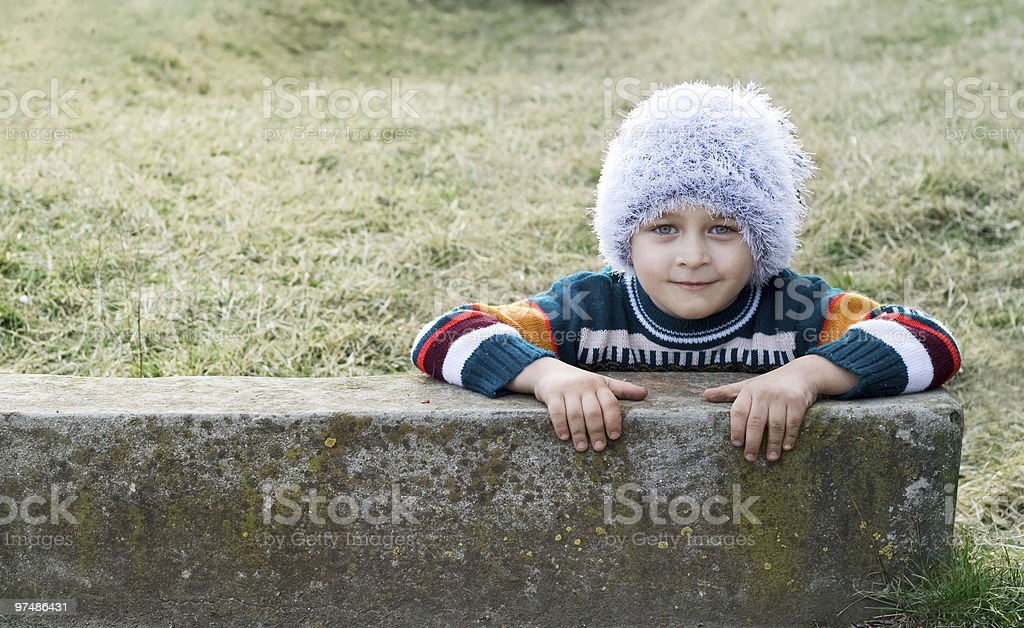 Happy smiling kid royalty-free stock photo