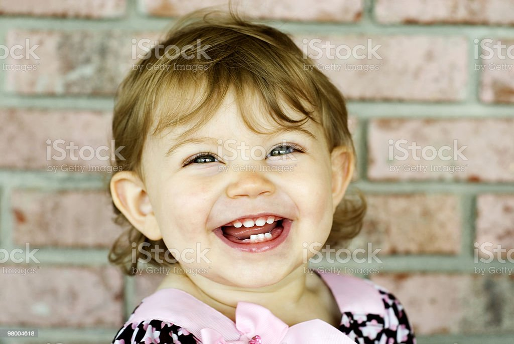 Happy Smiling Little Girl royalty free stockfoto