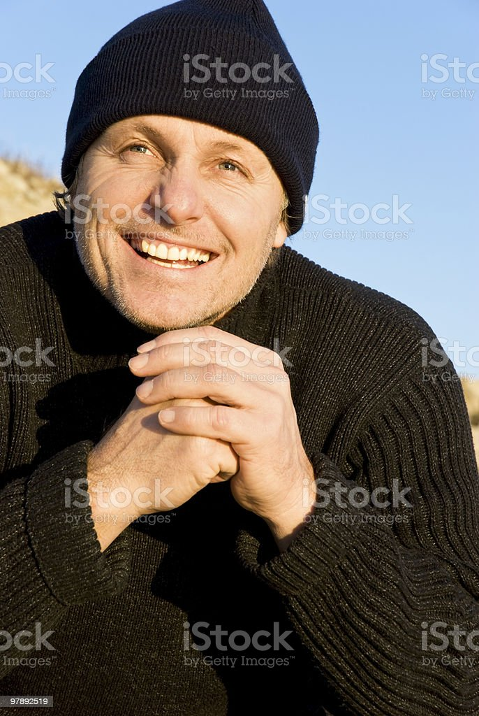 happy smiling male climber royalty-free stock photo