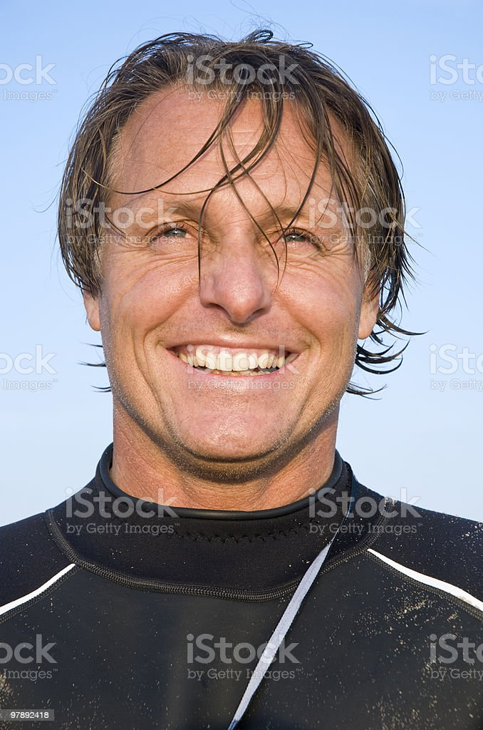 Happy smiling male surfer. royalty-free stock photo