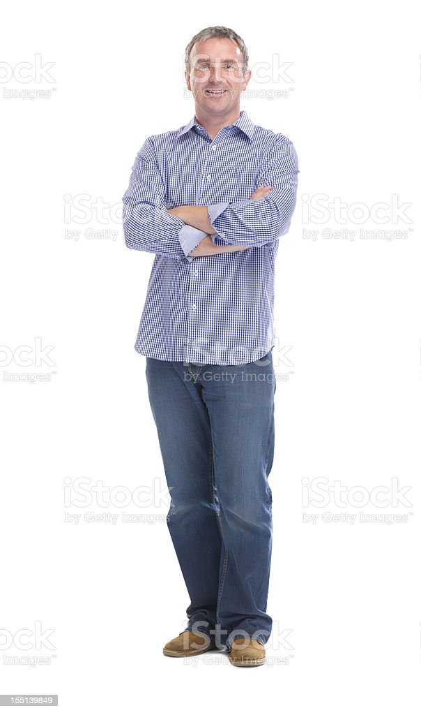 happy smiling man full length stock photo