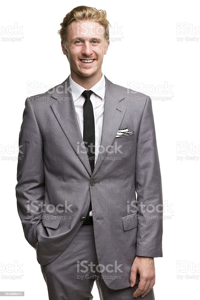 Happy Smiling Man In Suit stock photo