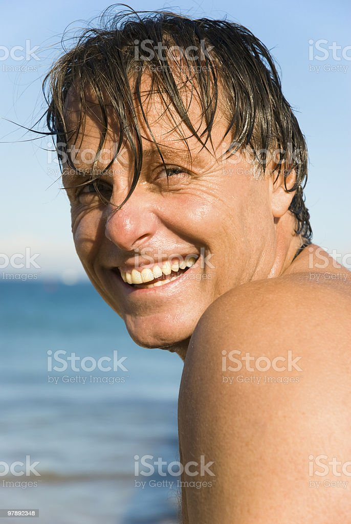 Happy smiling man. royalty-free stock photo