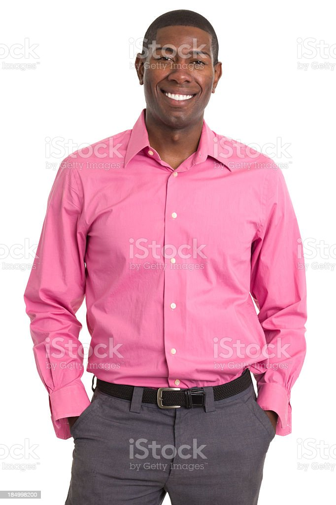 Happy Smiling Man Standing Portrait royalty-free stock photo