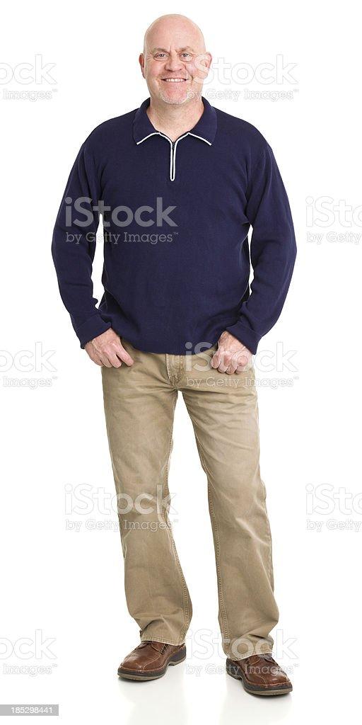 Happy Smiling Man Standing Portrait stock photo