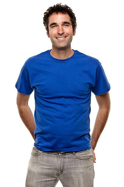 Happy Smiling Man Three Quarter Length Portrait stock photo