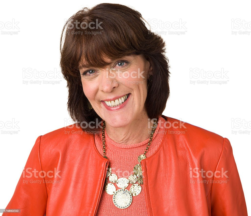Happy Smiling Mature Woman Close Up royalty-free stock photo