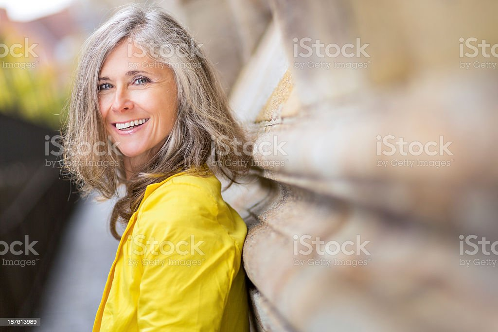 Happy Smiling Mature Woman stock photo