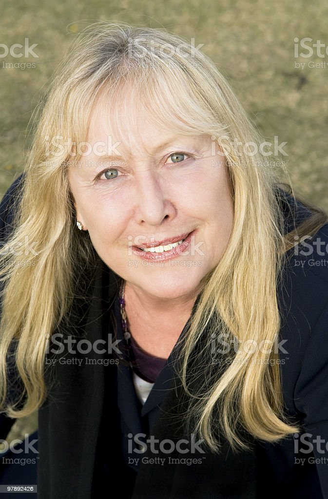 happy smiling older woman. royalty-free stock photo