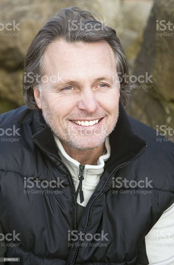 happy smiling outdoor man royalty-free stock photo