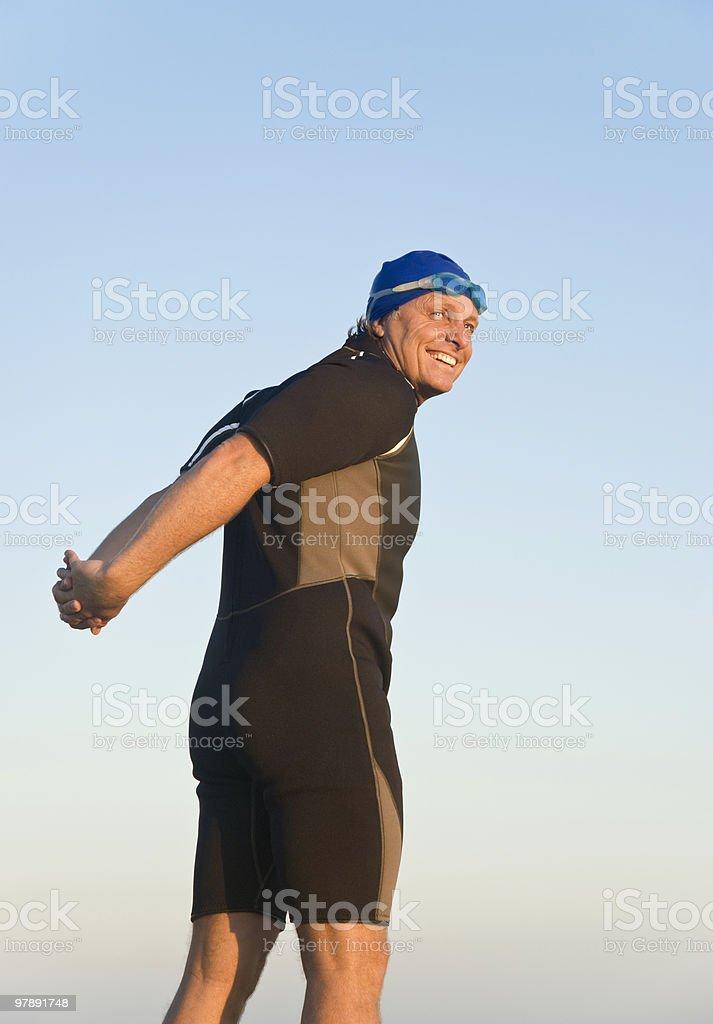 happy smiling triathlete. royalty-free stock photo
