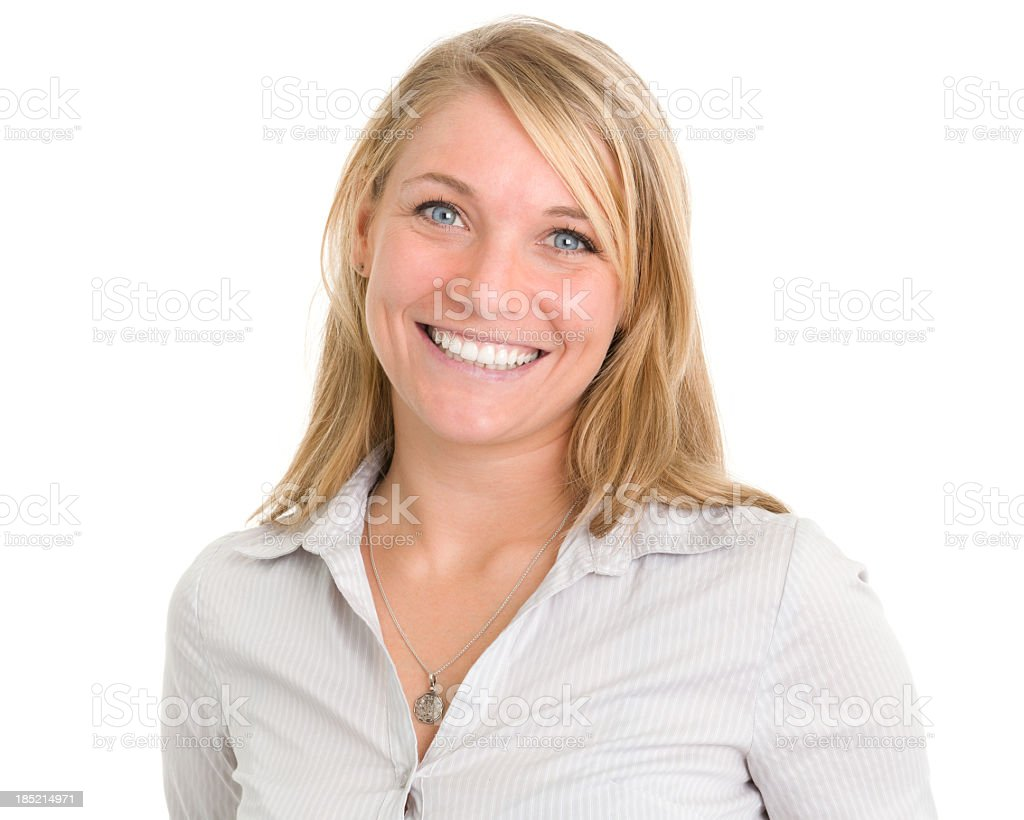 Happy Smiling Woman Close-up stock photo