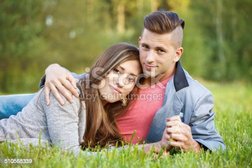 510491454istockphoto Happy smiling young couple outdoor 510568339