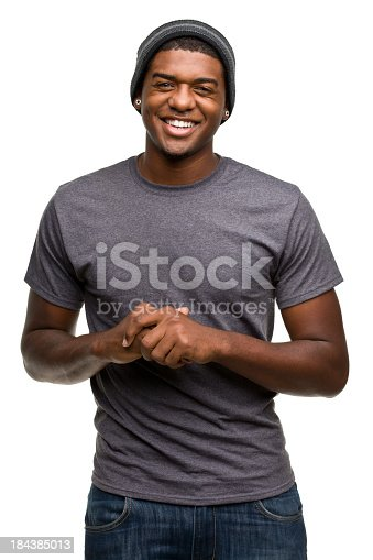 istock Happy Smiling Young Man Portrait 184385013
