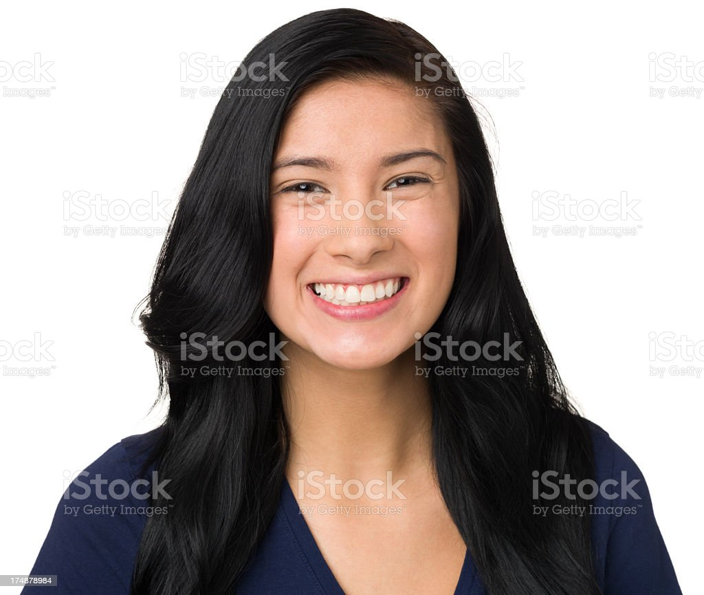 Happy Smiling Young Woman Portrait royalty-free stock photo