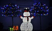 istock Happy snowman spreading holiday cheer. 1194410322