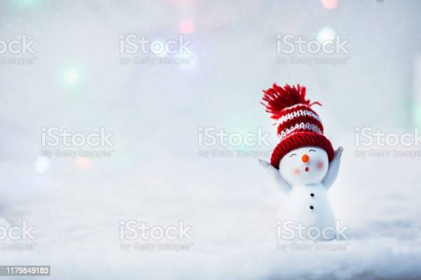 Happy snowman standing in winter christmas landscape merry christmas picture id1179849183?b=1&k=6&m=1179849183&s=612x612&h=f8ygvisxci9vzli7shwnj 0eepipn5zgintuk86tok8=