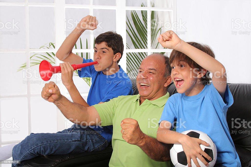 Happy Soccer Fans royalty-free stock photo