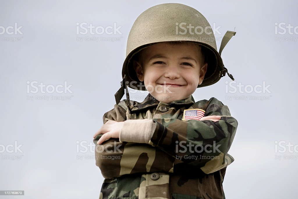 Happy Soldier stock photo