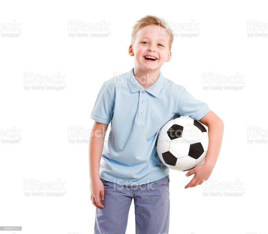 Happy Sport  Boy isolated stock photo