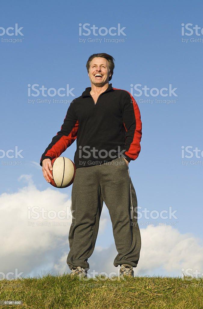 Happy sportsman. royalty-free stock photo