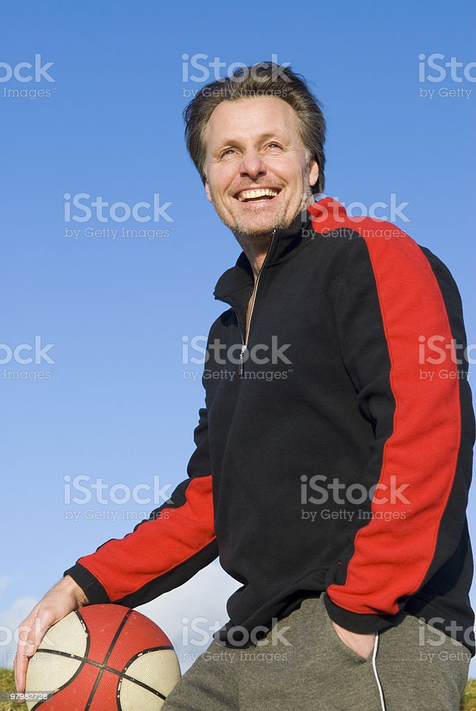 happy sportsman royalty-free stock photo