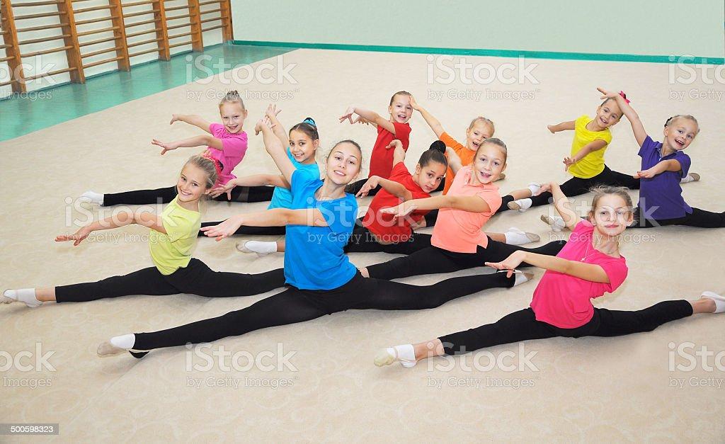 Happy sporty children stock photo