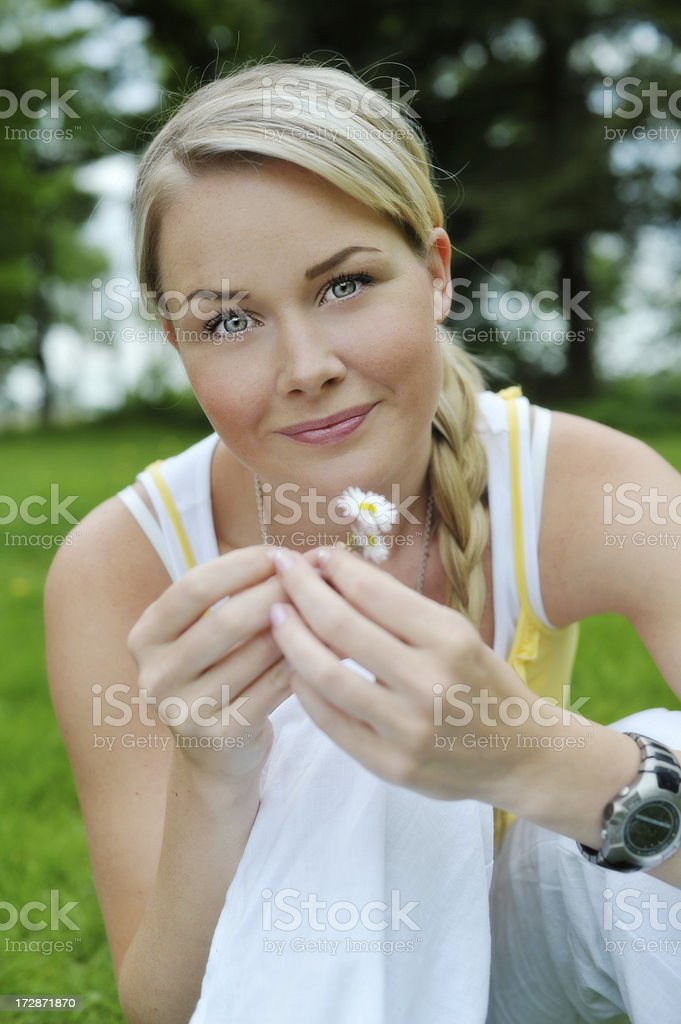 happy spring woman royalty-free stock photo